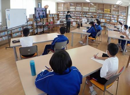【10月15日】地元の中学校で出張授業