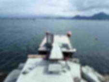 ダイビングボート用浮き桟橋