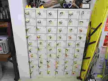 平沢マリンセンターの貴重品ロッカー