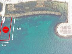 ダイビングボートの航路を進入禁止エリアに・・・