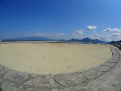 らららサンビーチの砂浜
