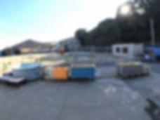 平沢マリンセンターの器材洗い場