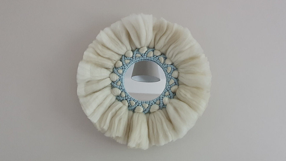 Juju Mirror in Cream and Blue
