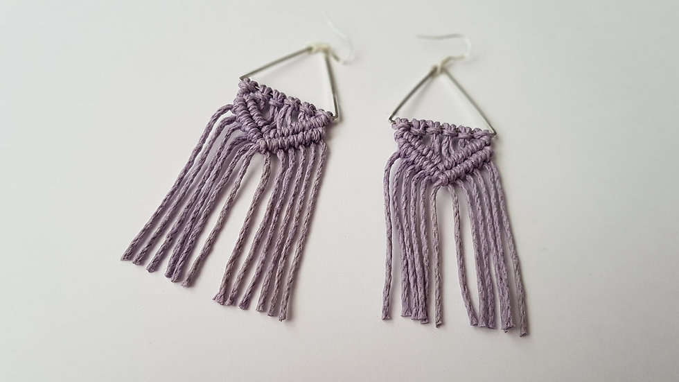 Lilac Earrings on Triangle