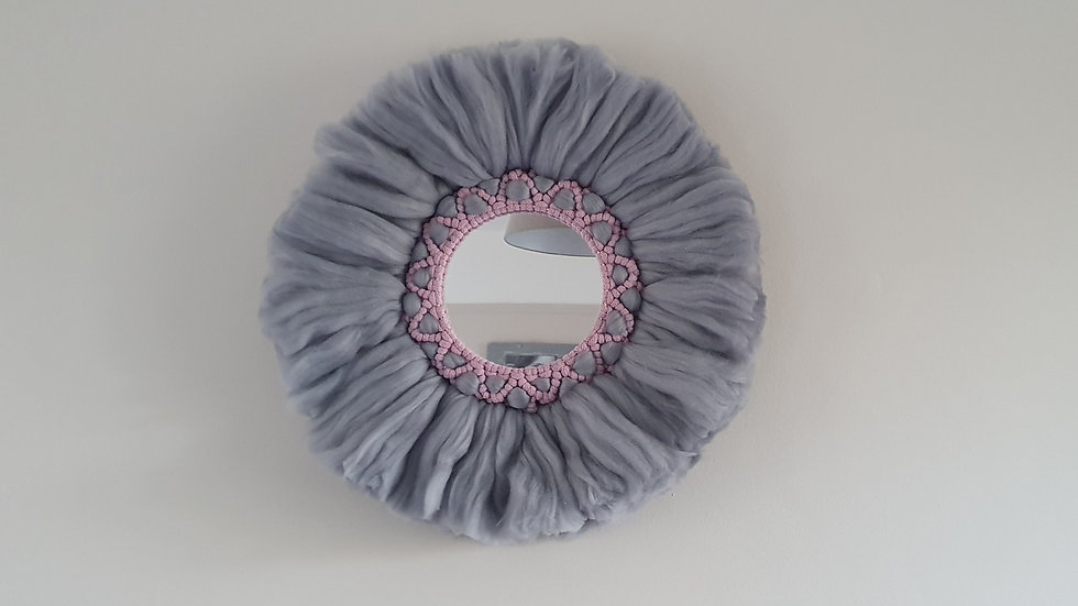 Juju Mirror in Grey and Pink