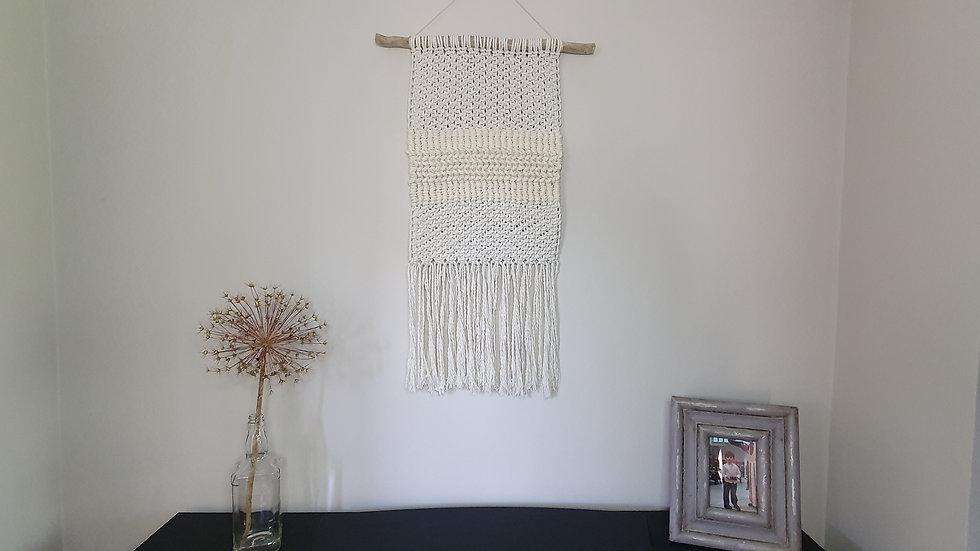 Textured Macramé Tapestry