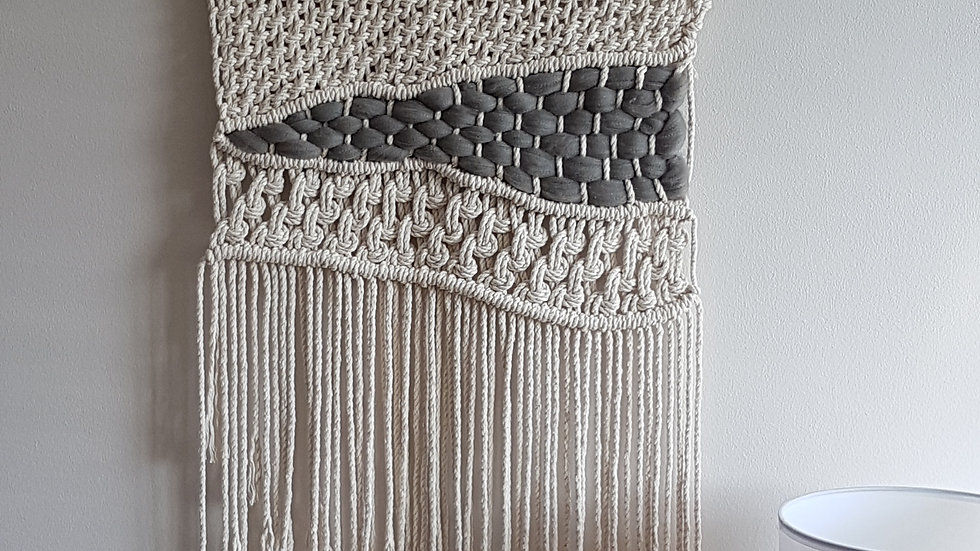 Knotted and Woven Wall Hanging