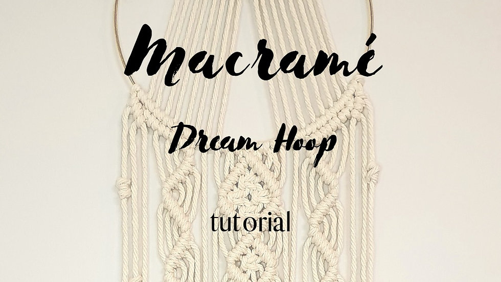 Digital Dream Hoop Tutorial