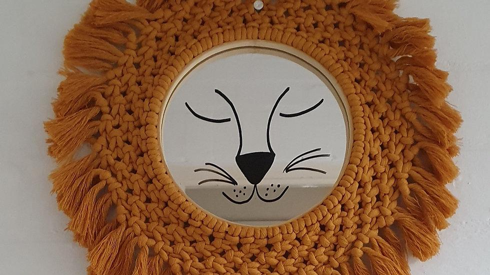 Lion Macramé Mirror