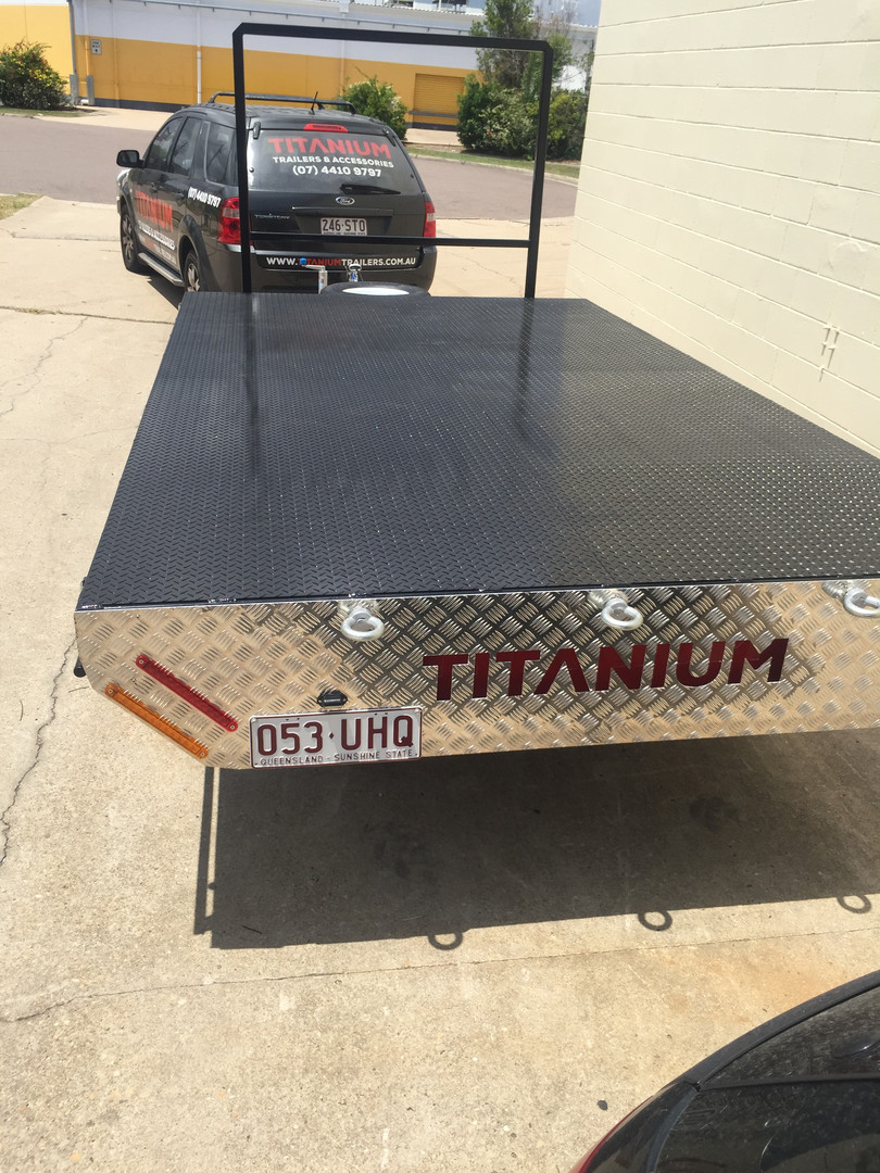 12x7 Flat Deck Trailer Titanium