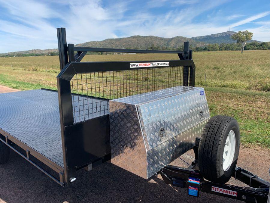 Titanium 6m Flat Deck Trailer