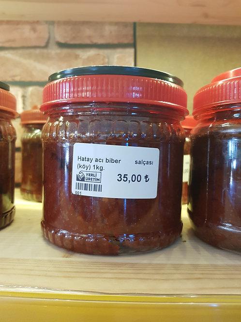 Hatay Köy Acı Biber Salçası(1000 gr.)