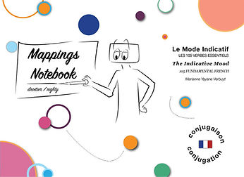 Notebook for Righty: The Indicative Mood: 105 Fundamental French Verbs. Marianne's Alpha Kappa.jpg