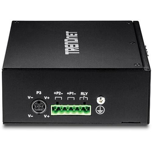 TRENDnet 10-Port Hardened Industrial Gigabit PoE+ DIN-Rail Switch