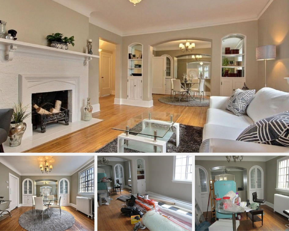 before and after staging photos of an Ottawa, Ontario property staged by Access Home Staging