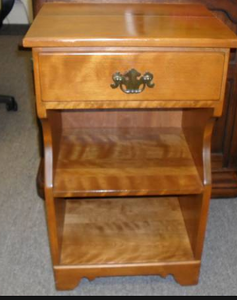 photo of colonial-style nightstand.