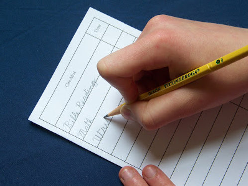 Extra Checklists for Undated Logbooks