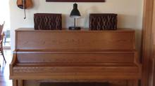 Home organization:  Piano Clutter