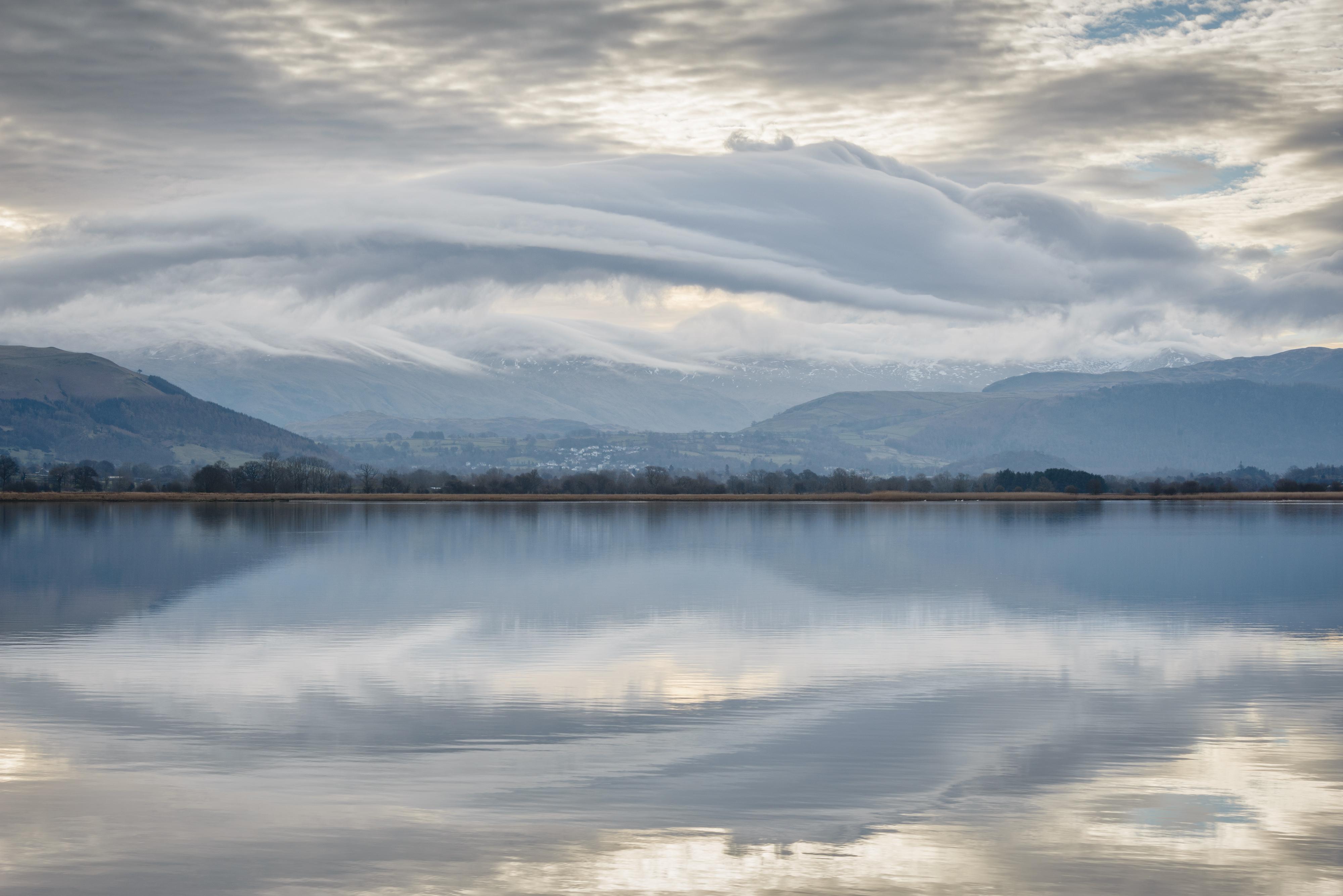 Lenticular clouds Bassenthwaite lake