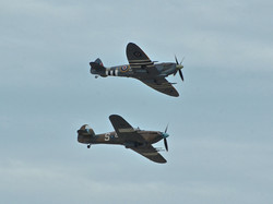 A Spitfire and a Hurricane in Flight