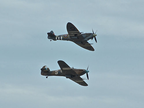A Spitfire and a Hurricane