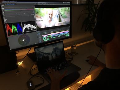 Editing the trailer for Bushcraft