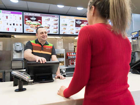 Ruairidh's lovin' it at McDonald's