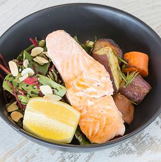 healthy Salmon takeaway meal
