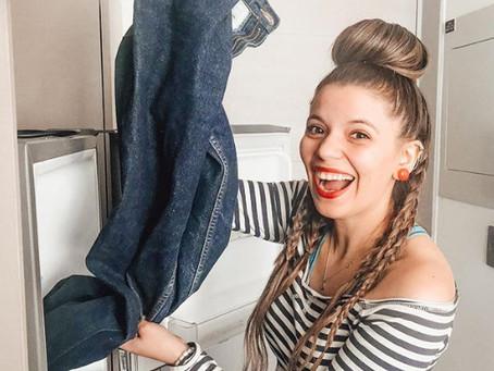 ¿pantalones en el congelador?