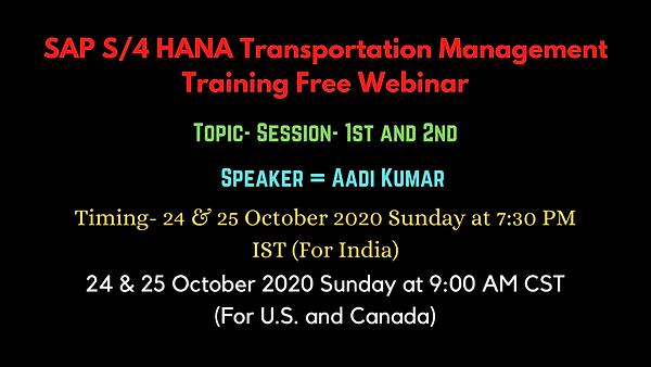 SAP S_4 HANA Transportation Management T