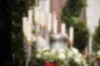 Blomster-Stearinlys-Begravelse