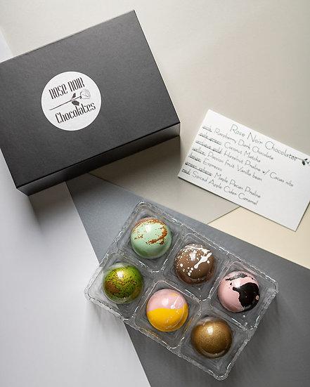 Six piece bonbon box