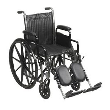"""McKesson WheelChair Steel 16-20""""W and 20"""" D Swing Away Foot Rest"""