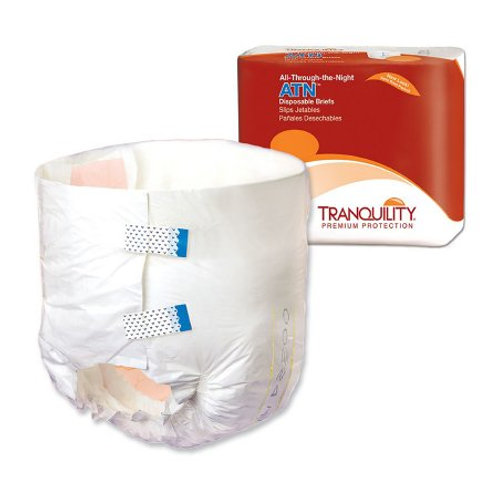 ATN Large 12 Count Unisex Adult Incontinence Brief Tranquility® Disposable