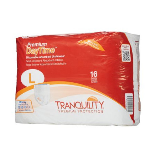 Premium Daytime Large Unisex Adult Absorbent Underwear Tranquility®  Pull On