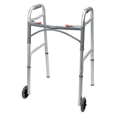 Folding Walker Adjustable Height with wheels McKesson