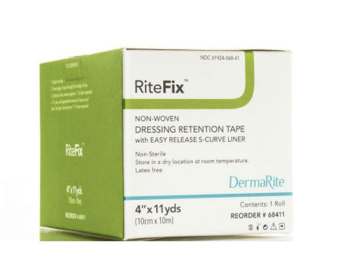 Dressing Retention Tape RiteFix Nonwoven Fabric 4 in x 11 yds