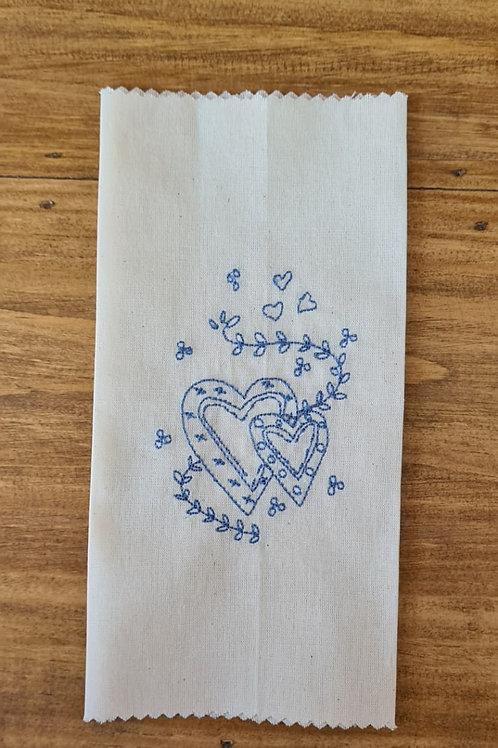 Tecido bordado mod 50  Azul
