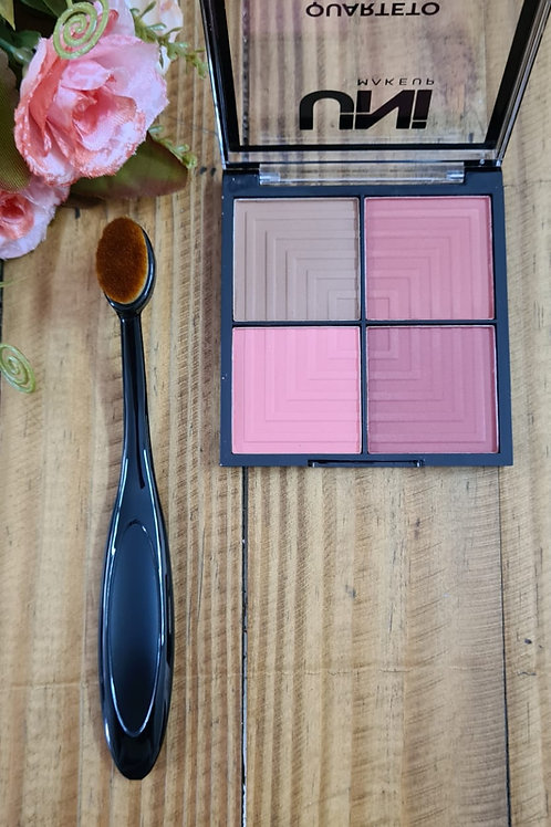 Kit paleta blush + pincel blush médio