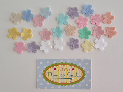 Flores Mini Feltro Aplique 2 cm