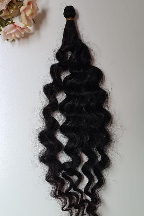 Cabelo longo ondulado preto  Fino