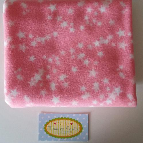Micro Soft de Estrela Rosa Chiclete