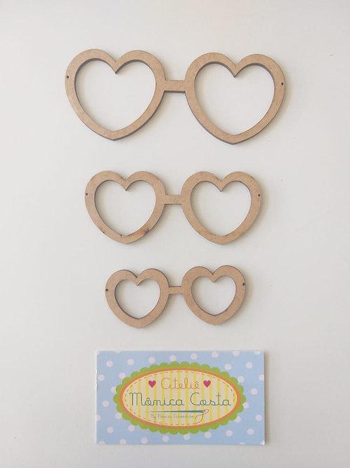 Trio óculos de coração grande