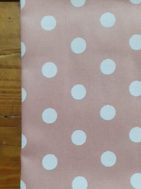 Tecido Poá  g rosa antigo