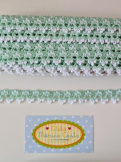 Rendas coloridas Verde +Branco