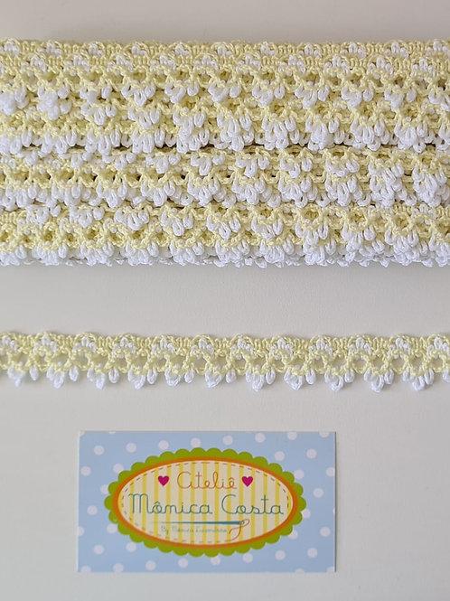 Rendas coloridas Amarelo +Branco