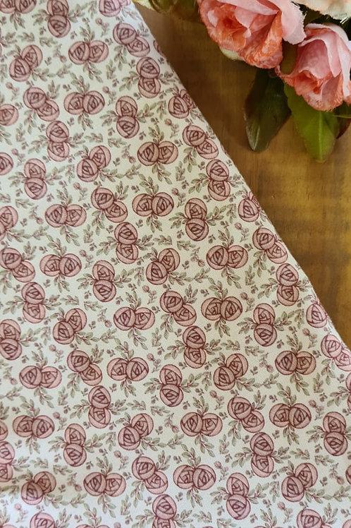 Tecido digital flores romance vintage