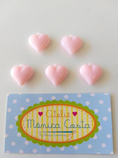 Coração pingente rosa