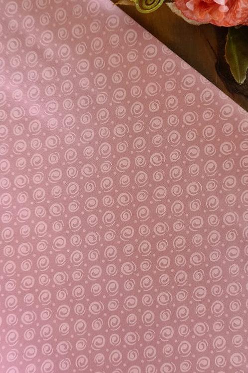 Tecido espiral rosa romance