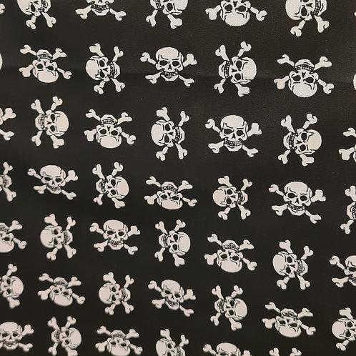 Tecido Textura Caveira preta e branca